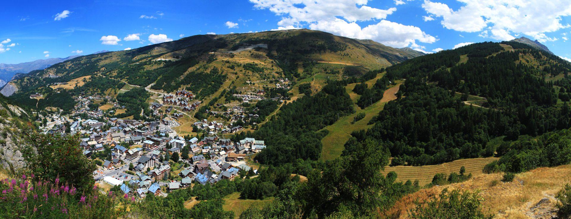 Vue sur valloire depuis Poingt Rogereuil