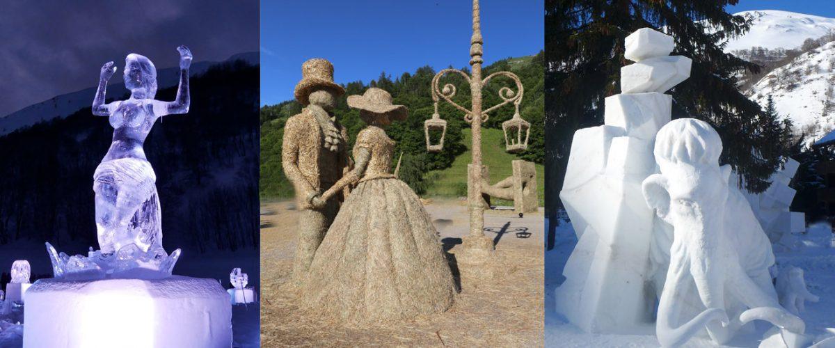 Valloire, capitale mondiale della scultura effimera