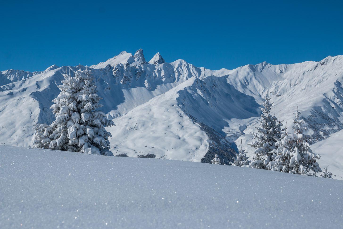 Paysage hivernal - Valloire Galibier Savoie France