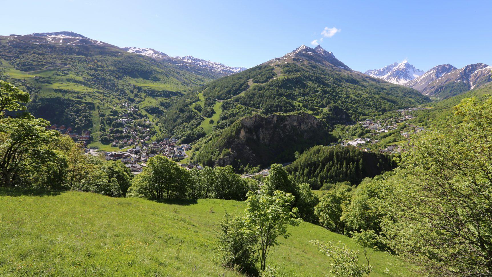 Vue sur Valloire et le Galibier depuis Poingt-Ravier