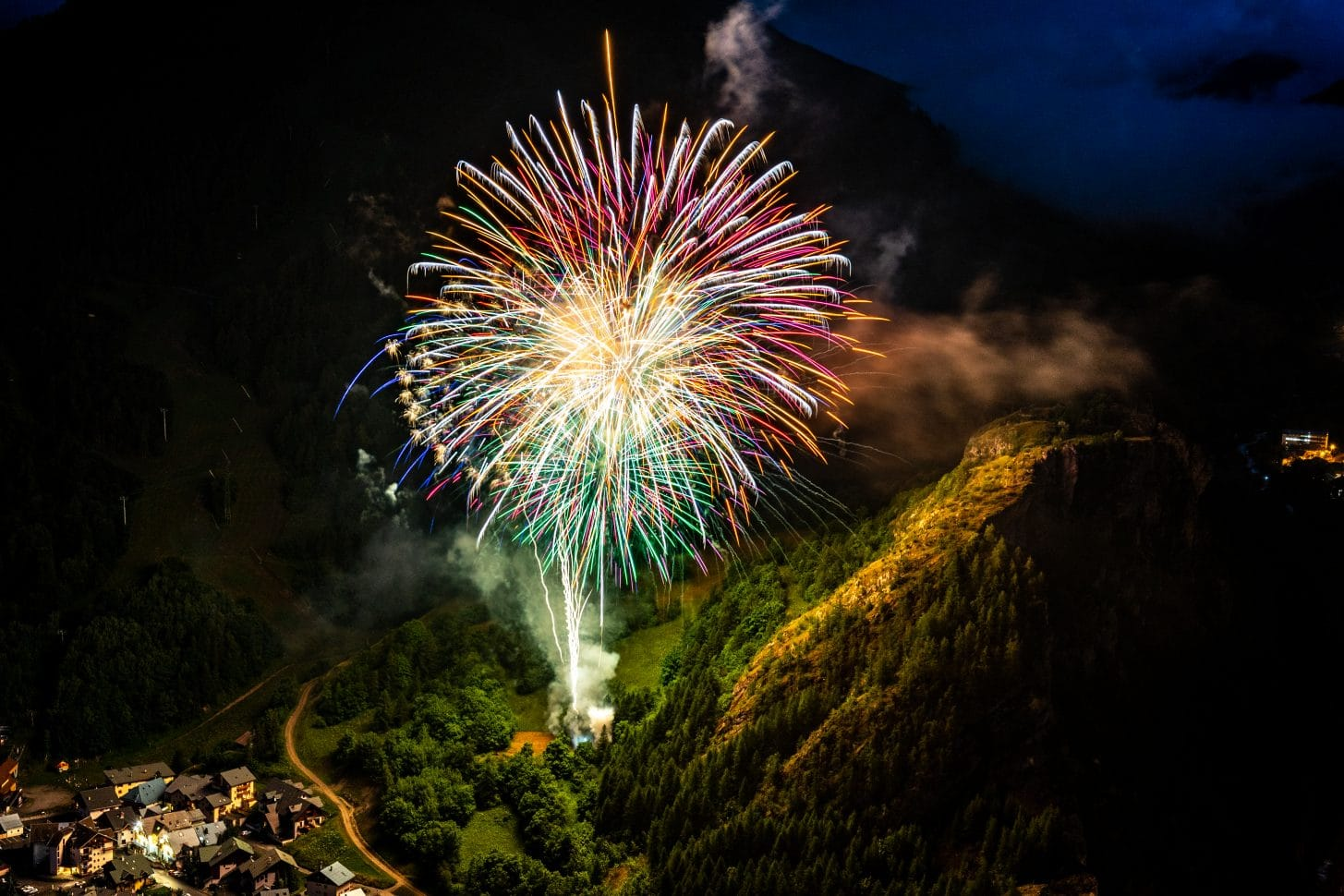Feu d'Artifice 14 juillet 2021 à Valloire